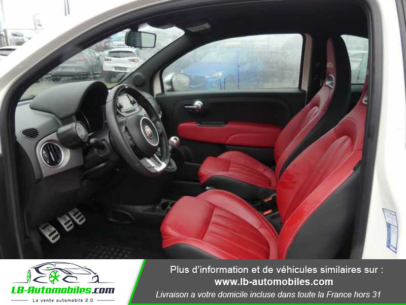 Abarth 595 1.4 Turbo T-Jet 165 ch Blanc occasion à Beaupuy - photo n°6