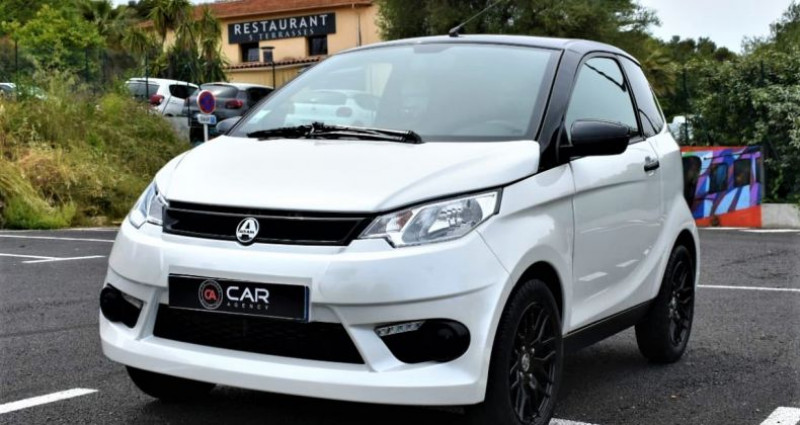 Aixam City Sans Permis 22500 km 2018 Blanc occasion à ANTIBES