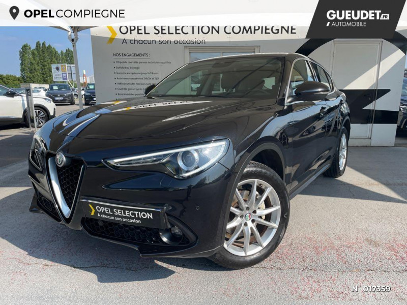 Alfa romeo Stelvio 2.2 Diesel 180ch Lusso Q4 AT8 Gris occasion à Compiègne