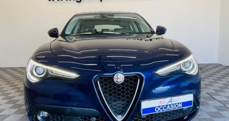 Alfa romeo Stelvio 2.2 Diesel 210ch Lusso Q4 AT8 Bleu occasion à TOURLAVILLE - photo n°2