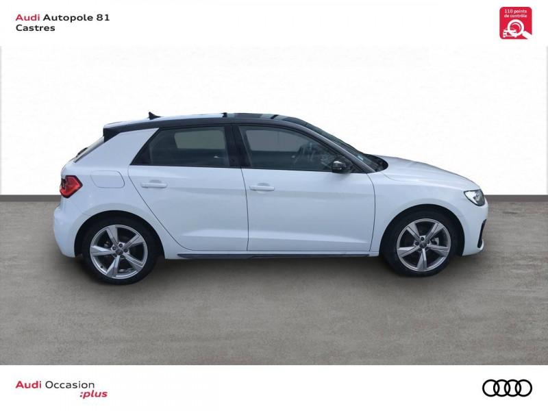 Audi A1 Sportback A1 Sportback 35 TFSI 150 ch S tronic 7 Design Luxe 5p Blanc occasion à Castres - photo n°2