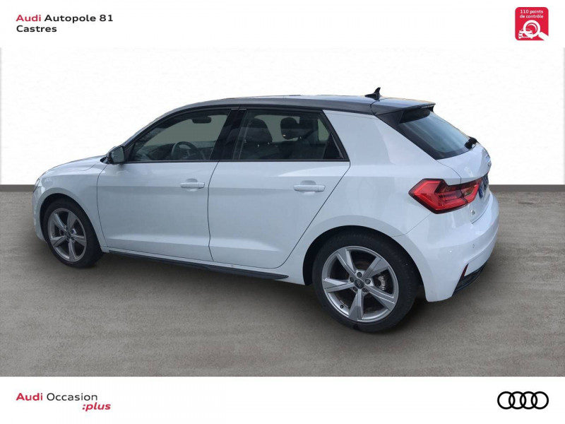 Audi A1 Sportback A1 Sportback 35 TFSI 150 ch S tronic 7 Design Luxe 5p Blanc occasion à Castres - photo n°3