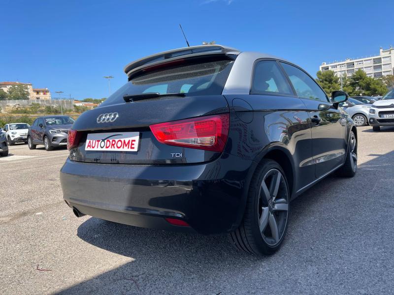 Audi A1 1.6 TDI 105ch FAP Ambition Luxe - 151 000 Kms Noir occasion à Marseille 10 - photo n°6