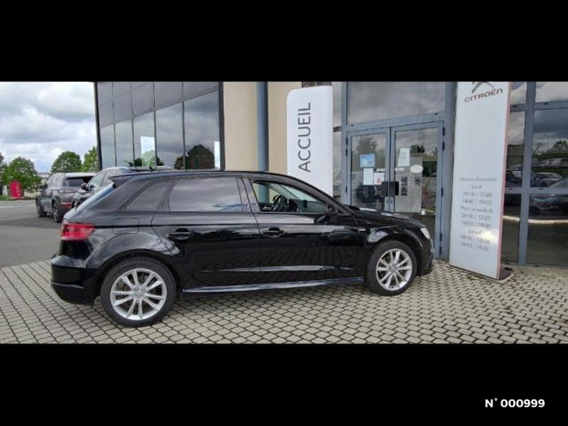 Audi A3 Berline 1.6 TDI 110ch FAP Ambiente Noir occasion à Écuelles - photo n°4