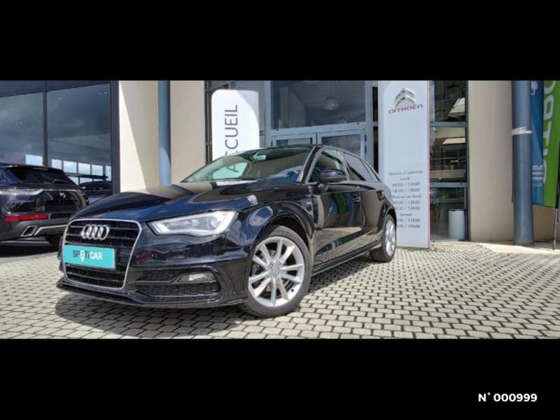 Audi A3 Berline 1.6 TDI 110ch FAP Ambiente Noir occasion à Écuelles - photo n°3