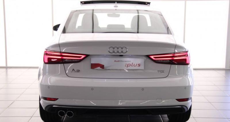 Audi A3 Berline 2.0 TDI 150 S tronic 7 Design Luxe Blanc occasion à Rouen - photo n°7