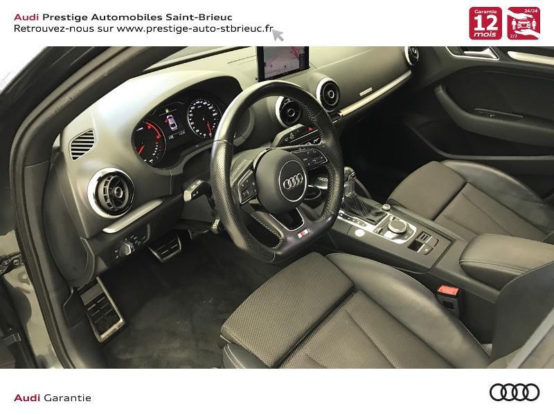 Audi A3 Berline 2.0 TDI 150ch S line S tronic 6 Gris occasion à Saint-Brieuc - photo n°9
