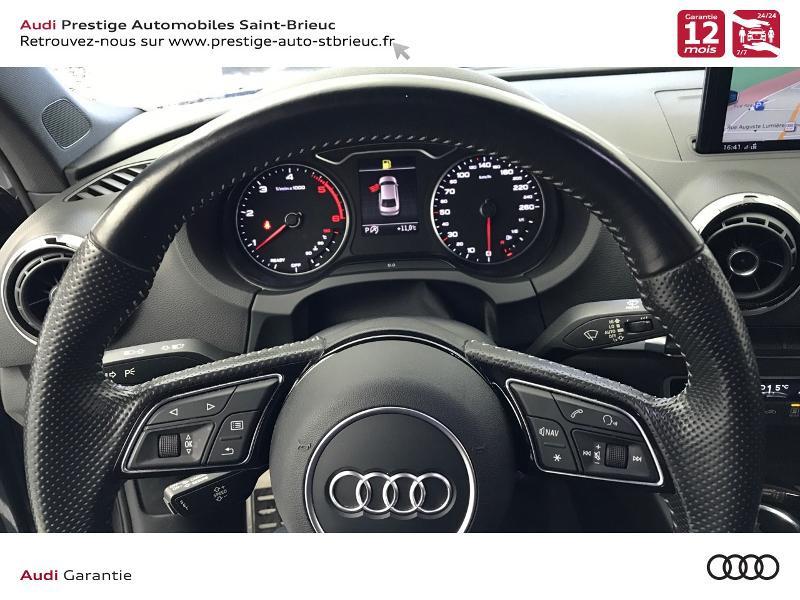 Audi A3 Berline 2.0 TDI 150ch S line S tronic 6 Gris occasion à Saint-Brieuc - photo n°11