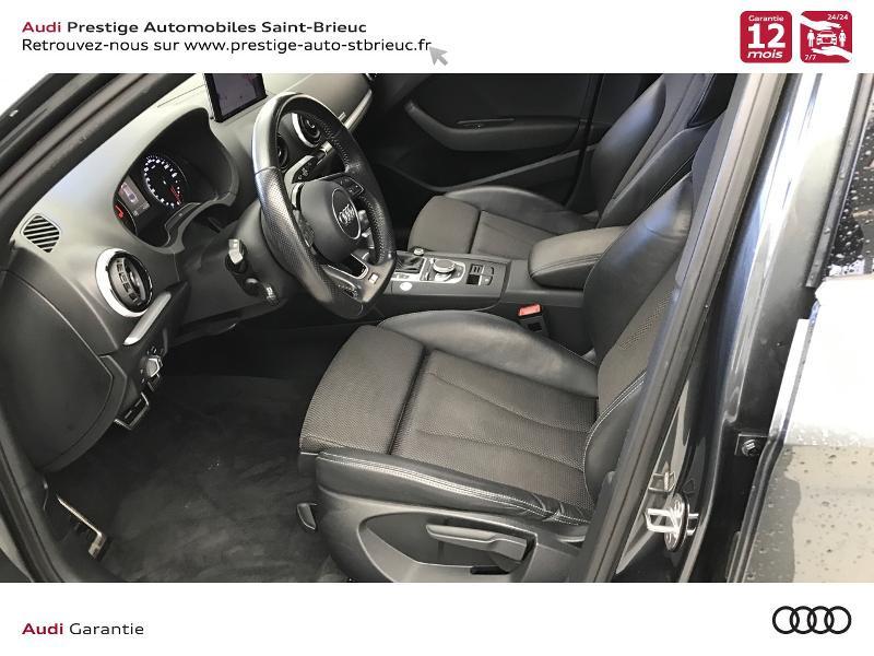 Audi A3 Berline 2.0 TDI 150ch S line S tronic 6 Gris occasion à Saint-Brieuc - photo n°10