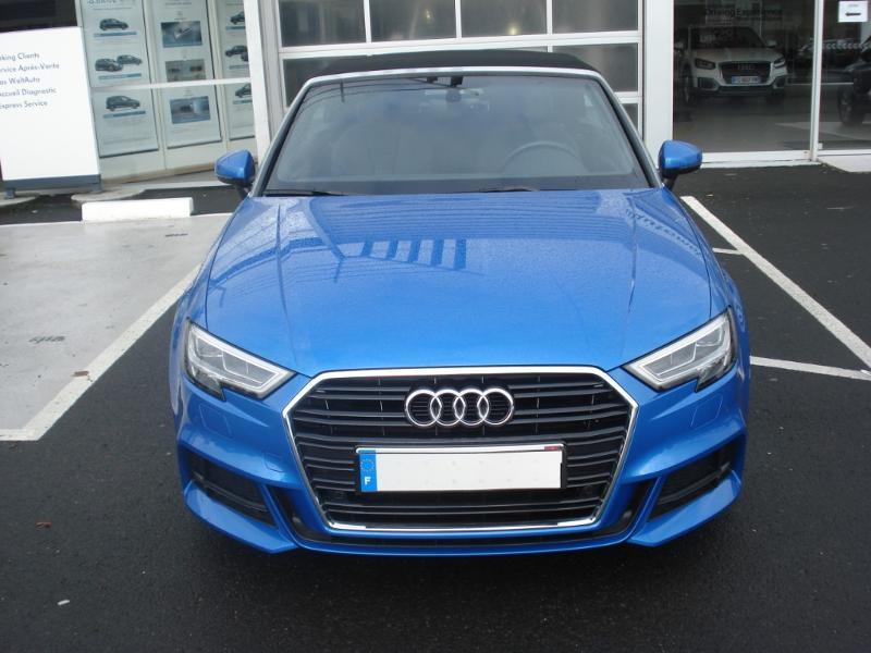 Audi A3 Cabriolet 1.5 TFSI 150ch COD Sport Bleu occasion à Aurillac - photo n°2