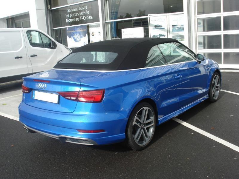 Audi A3 Cabriolet 1.5 TFSI 150ch COD Sport Bleu occasion à Aurillac - photo n°19