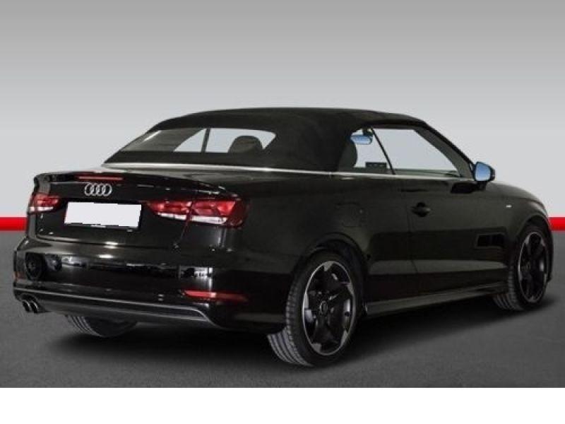 Audi A3 Cabriolet 1.8 TFSI 180 S-Line S Tronic Noir occasion à Beaupuy - photo n°3