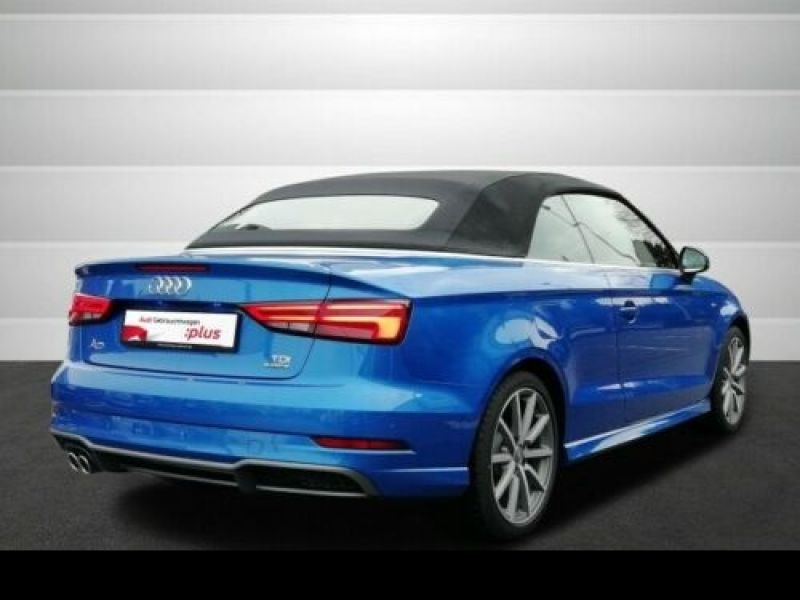 Audi A3 Cabriolet 2.0 TDI 184 S Tronic Bleu occasion à Beaupuy - photo n°3