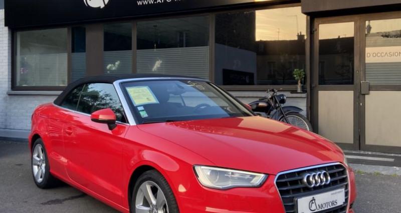 Audi A3 Cabriolet Cabriolet 2.0 TDI 150 Ambition S-tronic 6 Rouge occasion à Paris - photo n°2