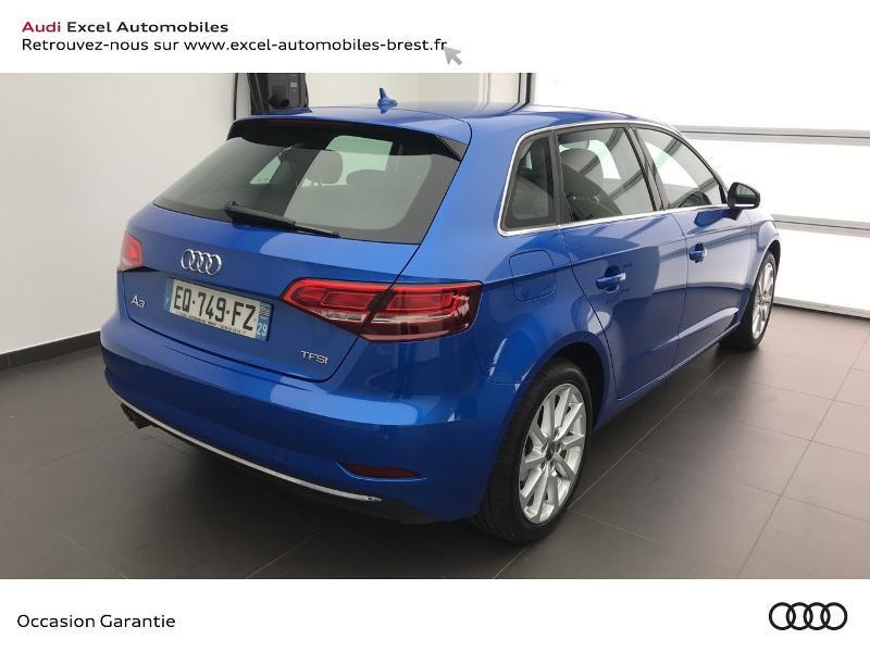 Audi A3 Sportback 1.5 TFSI 150ch Design Bleu occasion à Brest - photo n°4