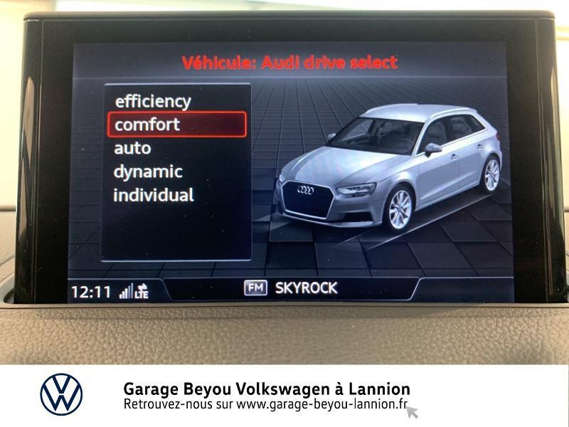 Audi A3 Sportback 1.6 TDI 110ch Business line S tronic 7 Bleu occasion à Lannion - photo n°19