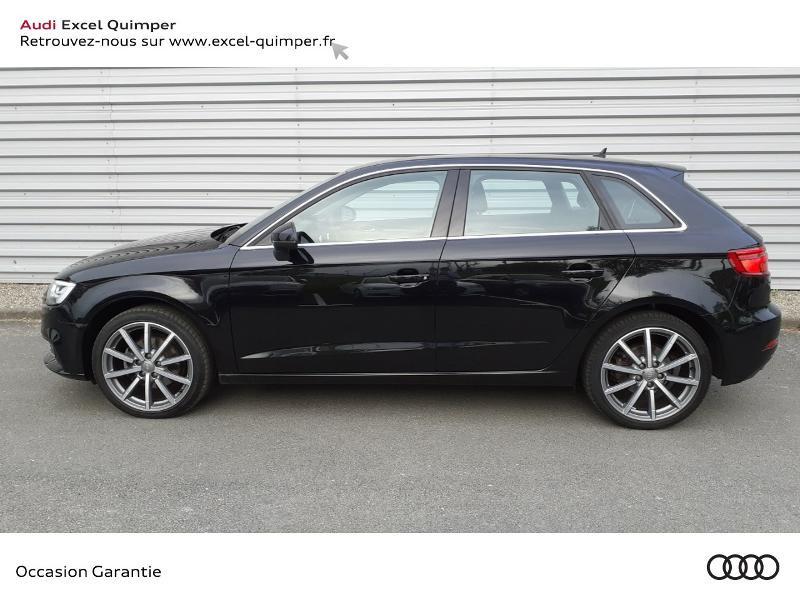 Audi A3 Sportback 2.0 TDI 150ch Design luxe S tronic 7 Noir occasion à Quimper - photo n°3