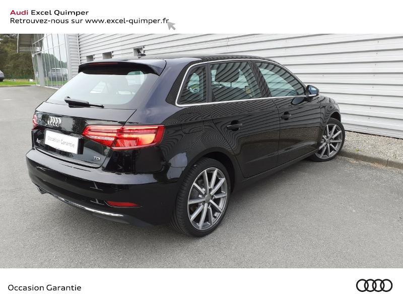 Audi A3 Sportback 2.0 TDI 150ch Design luxe S tronic 7 Noir occasion à Quimper - photo n°4