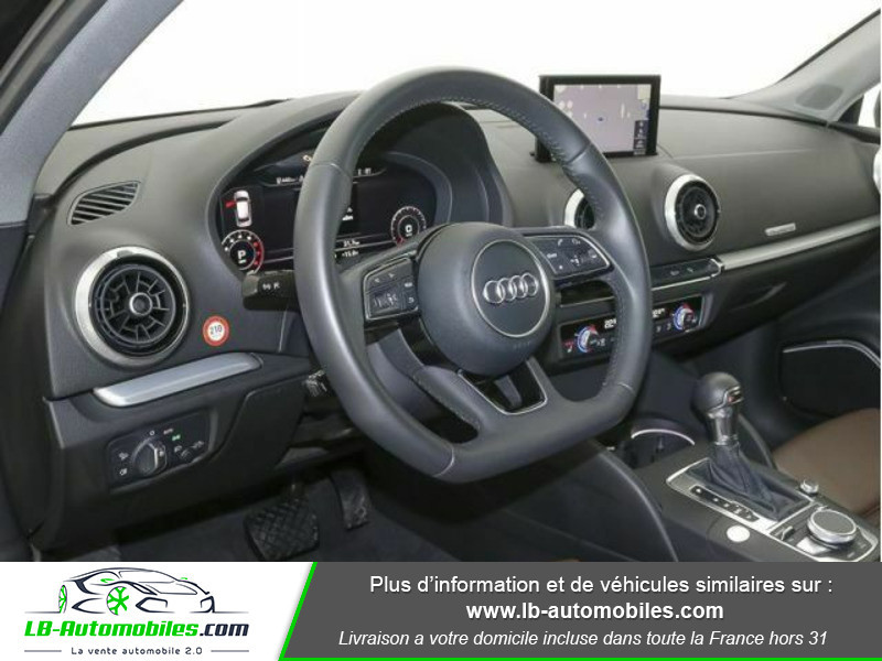 Audi A3 Sportback 2.0 TFSI 190 S tronic Quattro Noir occasion à Beaupuy - photo n°7