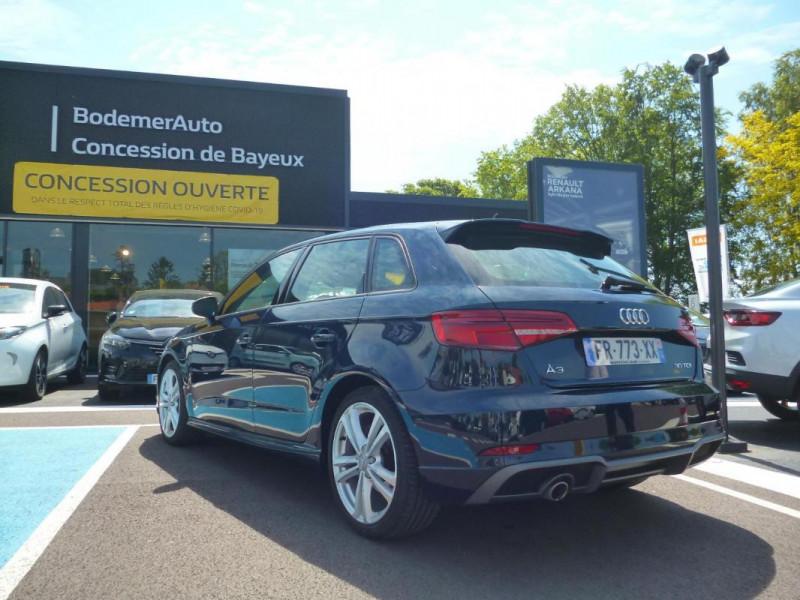 Audi A3 Sportback 30 TDI 116 S tronic 7 Sport Bleu occasion à BAYEUX - photo n°4