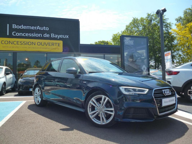 Audi A3 Sportback 30 TDI 116 S tronic 7 Sport Bleu occasion à BAYEUX - photo n°2