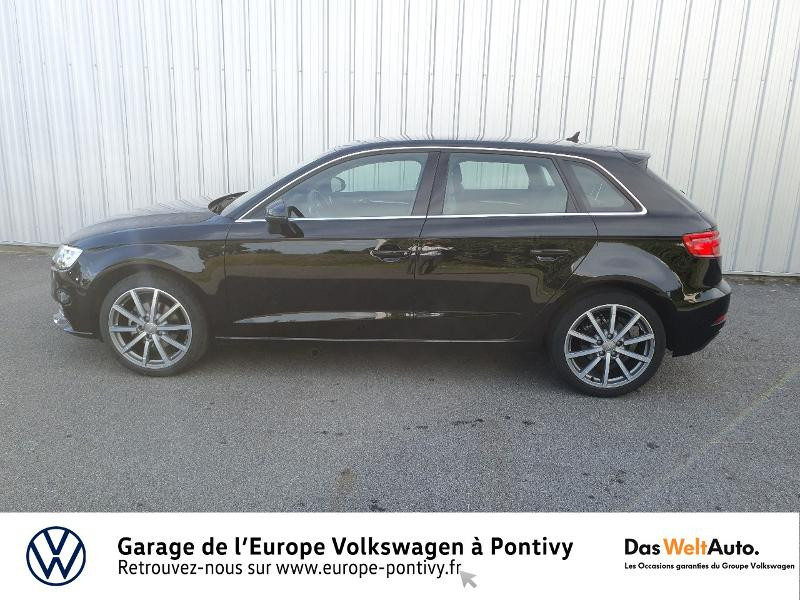 Audi A3 Sportback 30 TDI 116ch Design luxe S tronic 7 Euro6d-T Noir occasion à PONTIVY - photo n°2