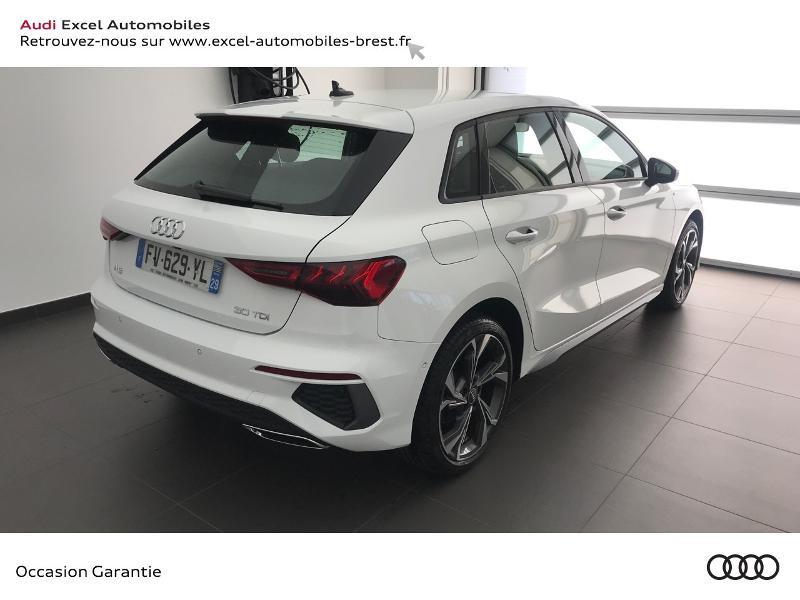 Audi A3 Sportback 30 TDI 116ch S line Blanc occasion à Brest - photo n°4