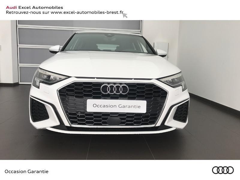 Audi A3 Sportback 30 TDI 116ch S line Blanc occasion à Brest - photo n°2