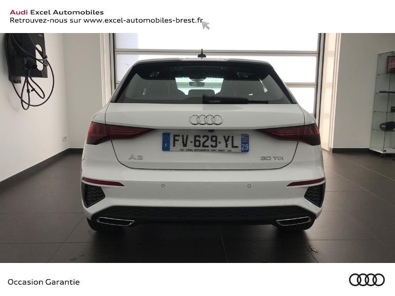 Audi A3 Sportback 30 TDI 116ch S line Blanc occasion à Brest - photo n°5