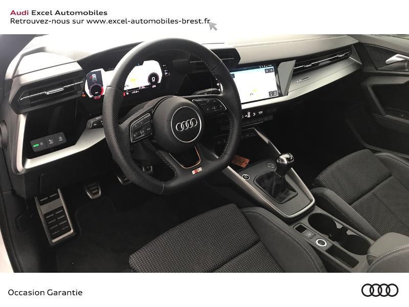 Audi A3 Sportback 30 TDI 116ch S line Blanc occasion à Brest - photo n°6