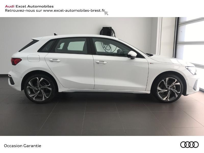 Audi A3 Sportback 30 TDI 116ch S line Blanc occasion à Brest - photo n°3