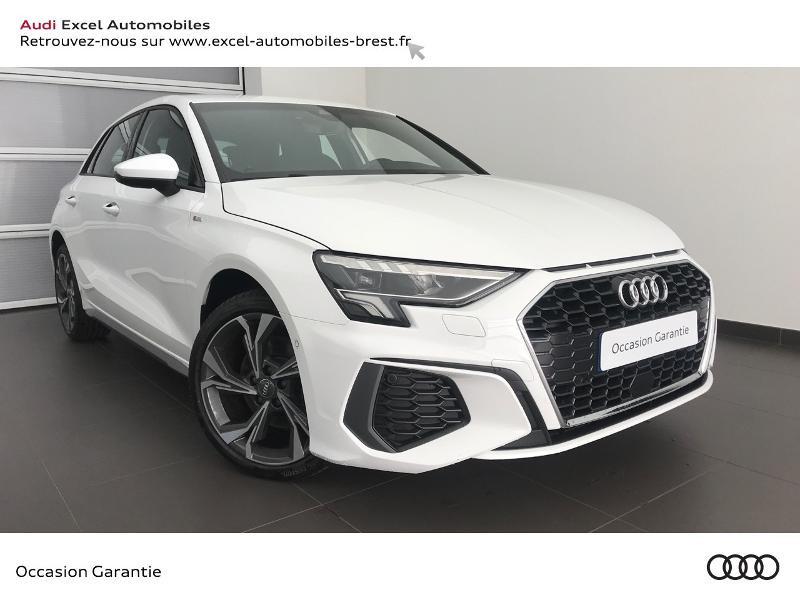 Audi A3 Sportback 30 TDI 116ch S line Blanc occasion à Brest - photo n°1