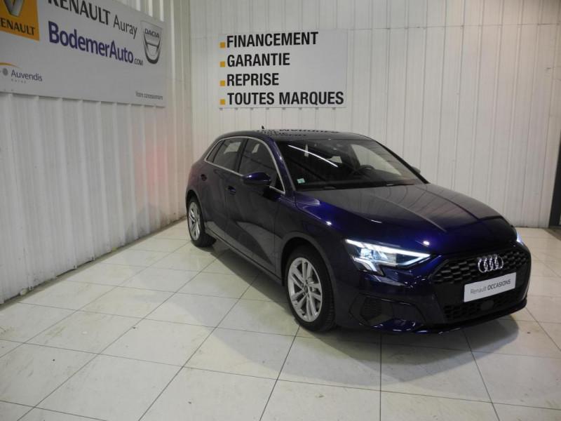 Audi A3 Sportback 30 TFSI 110 S tronic 7 Design Bleu occasion à AURAY - photo n°2