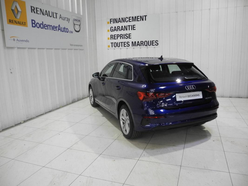 Audi A3 Sportback 30 TFSI 110 S tronic 7 Design Bleu occasion à AURAY - photo n°4
