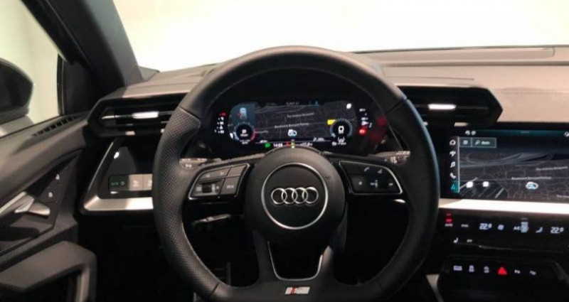 Audi A3 Sportback 30 TFSI 110 S tronic 7 S line Noir occasion à Chenove - photo n°5