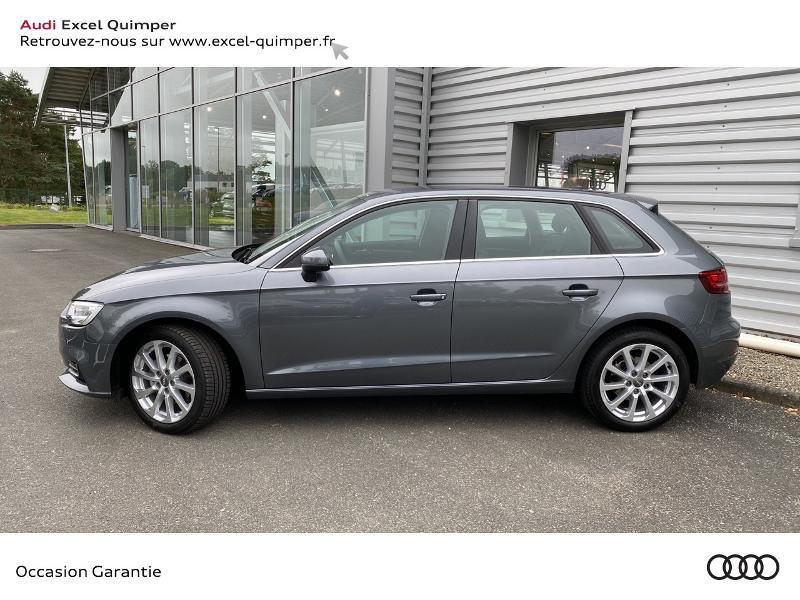 Audi A3 Sportback 30 TFSI 116ch Design Euro6d-T Gris occasion à Quimper - photo n°3