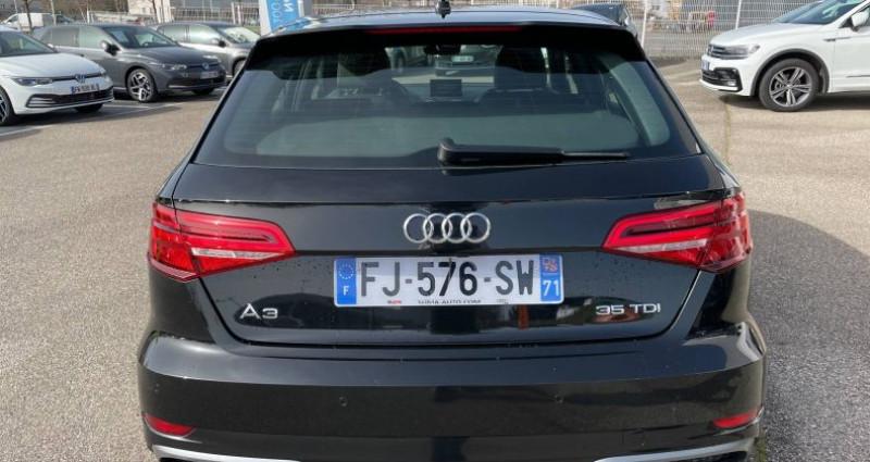 Audi A3 Sportback 35 TDI 150 S tronic 7 S Line Plus Noir occasion à Bourgogne - photo n°4