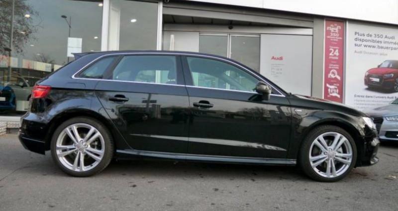 Audi A3 Sportback 35 TDI 150 S tronic 7 S Line Plus Noir occasion à Saint-Ouen - photo n°2