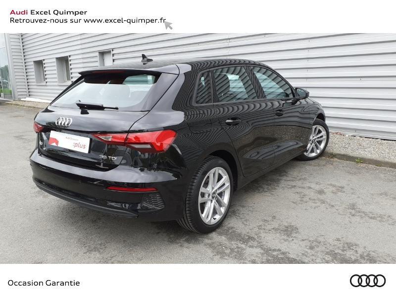 Audi A3 Sportback 35 TDI 150ch Design S tronic 7 Noir occasion à Quimper - photo n°4