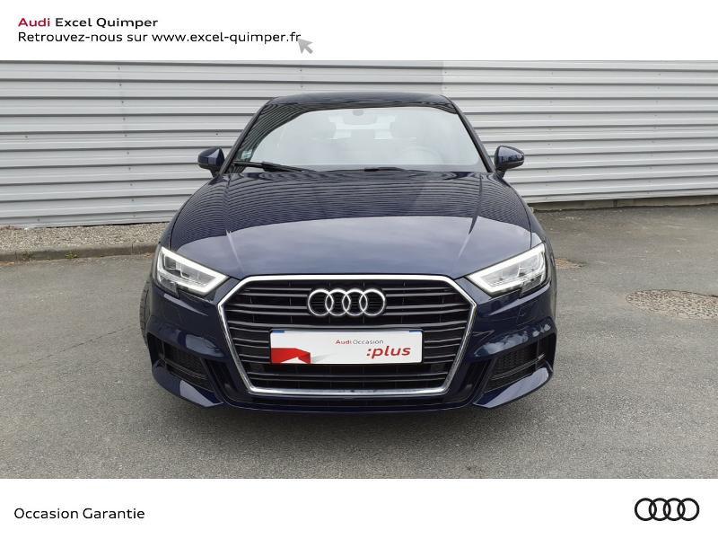 Audi A3 Sportback 35 TDI 150ch S line Plus S tronic 7 Euro6d-T 112g Bleu occasion à Quimper - photo n°2