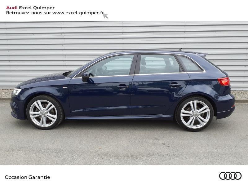 Audi A3 Sportback 35 TDI 150ch S line Plus S tronic 7 Euro6d-T 112g Bleu occasion à Quimper - photo n°3