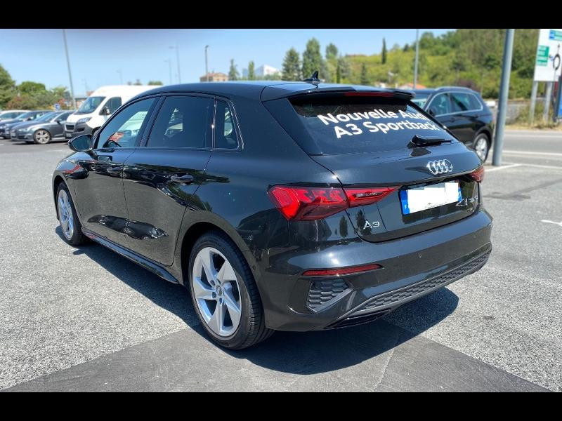Audi A3 Sportback 35 TDI 150ch S line S tronic 7 Noir occasion à Albi - photo n°2