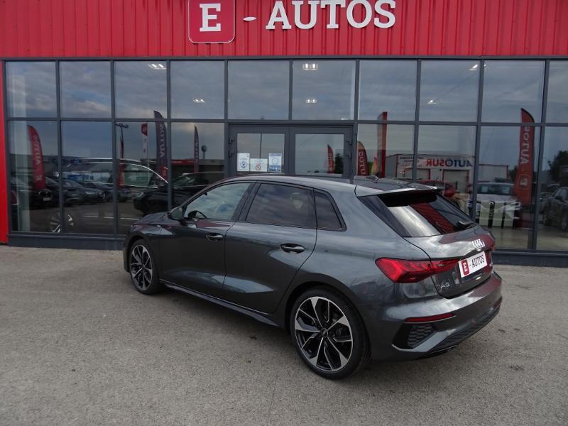 Audi A3 Sportback 35 TDI 150ch S line S tronic 7 Gris occasion à Barberey-Saint-Sulpice - photo n°3