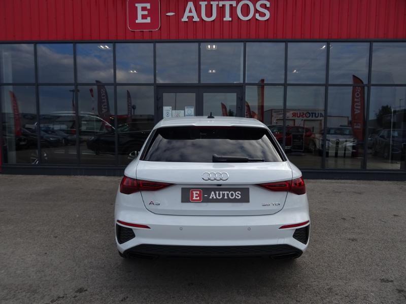 Audi A3 Sportback 35 TDI 150ch S line S tronic 7 Blanc occasion à Barberey-Saint-Sulpice - photo n°5