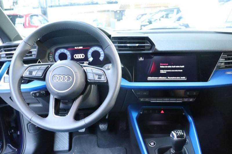 Audi A3 Sportback 35 TFSI 150 S line Bleu occasion à Aubière - photo n°5