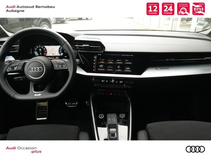 Audi A3 Sportback 35 TFSI 150ch S line S tronic 7 Noir occasion à Aubagne - photo n°6