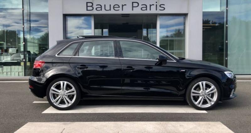 Audi A3 Sportback 35 TFSI CoD 150 S tronic 7 S Line Noir occasion à Saint-Ouen - photo n°3
