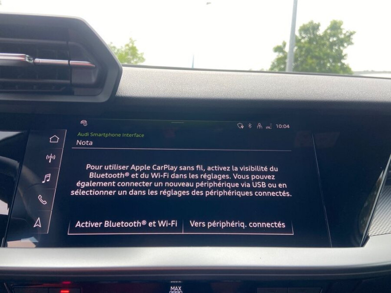 Audi A3 Sportback 40 TFSI E 204 S TRONIC DESIGN LUXE Blanc occasion à Montauban - photo n°16