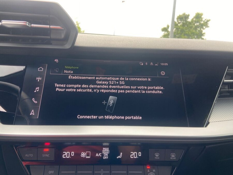 Audi A3 Sportback 40 TFSI E 204 S TRONIC DESIGN LUXE Blanc occasion à Montauban - photo n°17