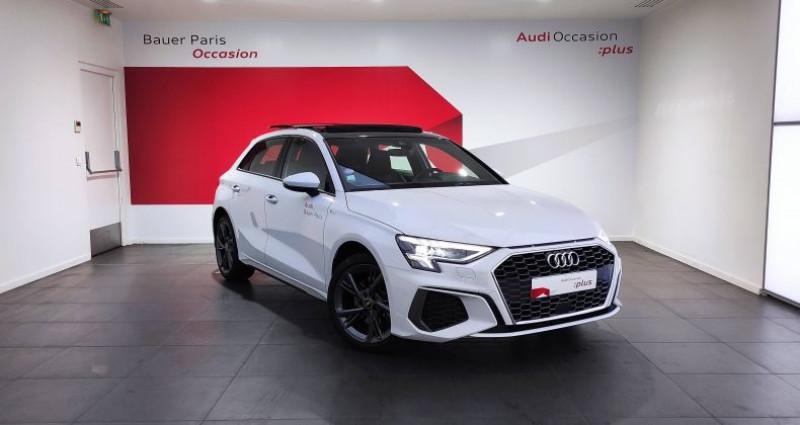 Audi A3 Sportback 40 TFSIe 204 S Tronic 6 S Line Blanc occasion à Saint-Ouen
